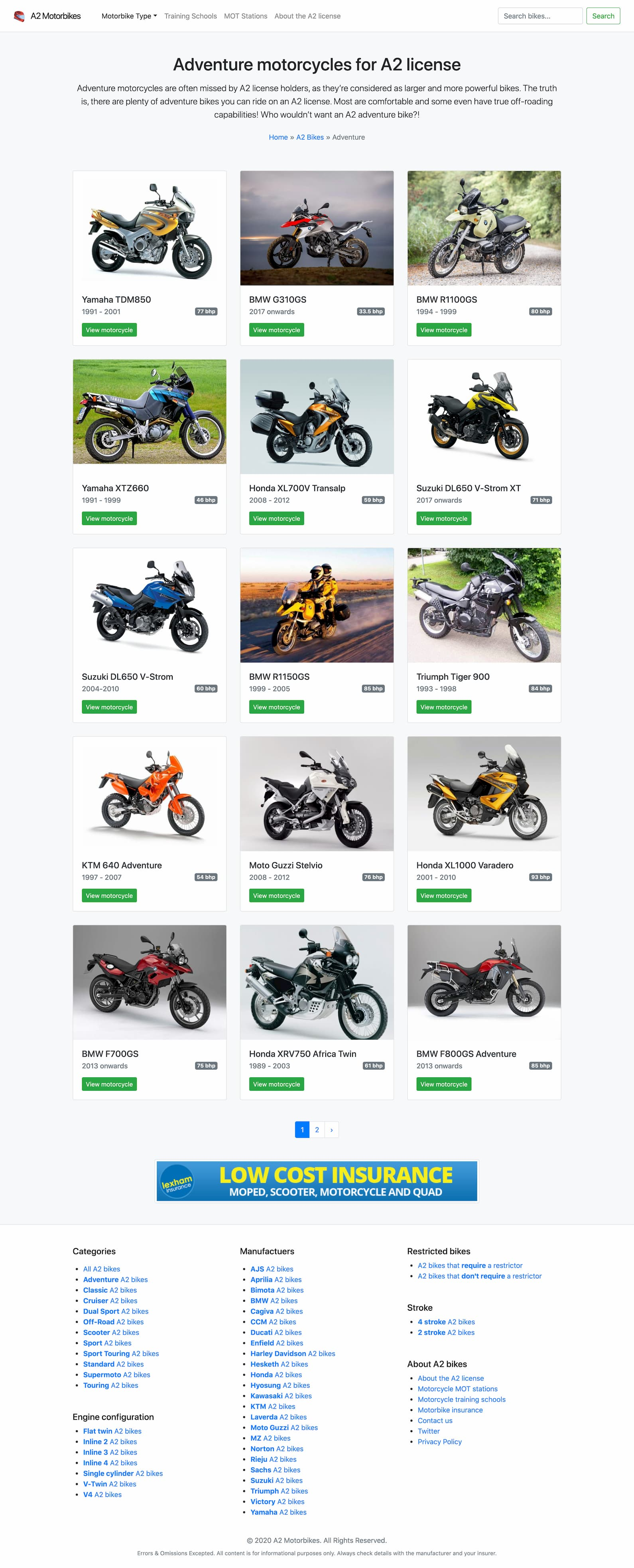 A2 Motorbikes archive